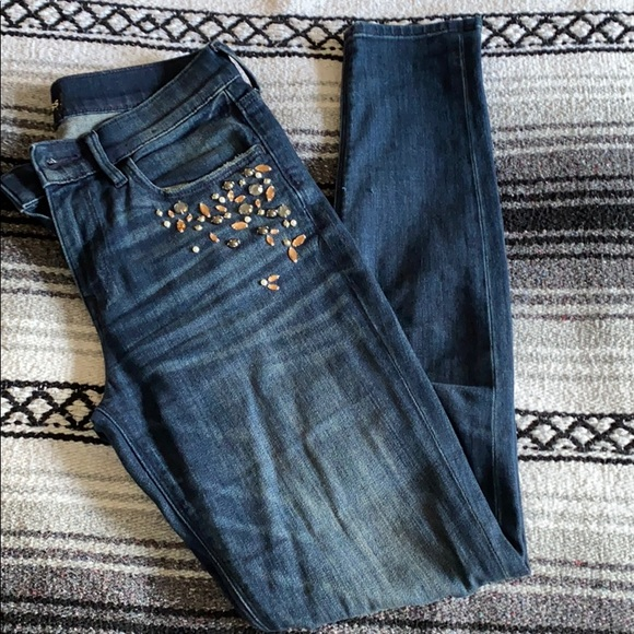 Express Jeweled Mid Rise Jegging